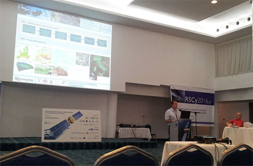 Daniele Spizzichino (ISPRA) presents PROTHEGO's WP1 during the Special Session 'Sensing the past'.