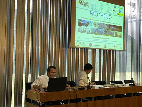 Daniele Spizzichino (ISPRA) presents PROTHEGO during the ICL–IPL Conference 2016.