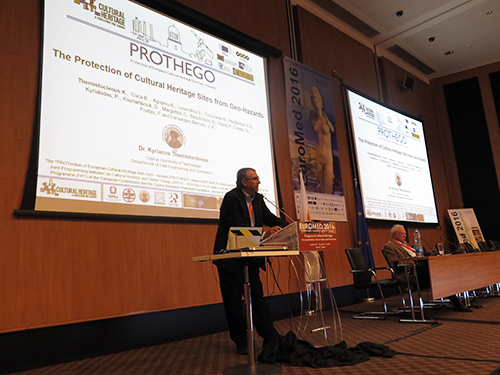 Kyriacos Themistocleous (CUT) presents PROTHEGO at EUROMED 2016.